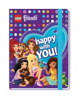 LEGO® Friends Notizbuch mit Gummiband