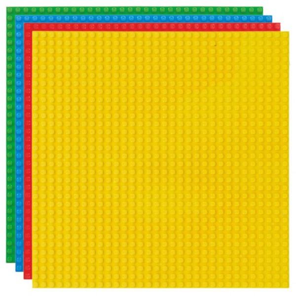 Strictly Briks - Bauplatten Set 4 Stück - rot/blau/grün/gelb