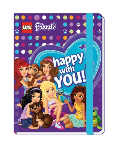 LEGO® Friends Notizbuch mit Gummiband