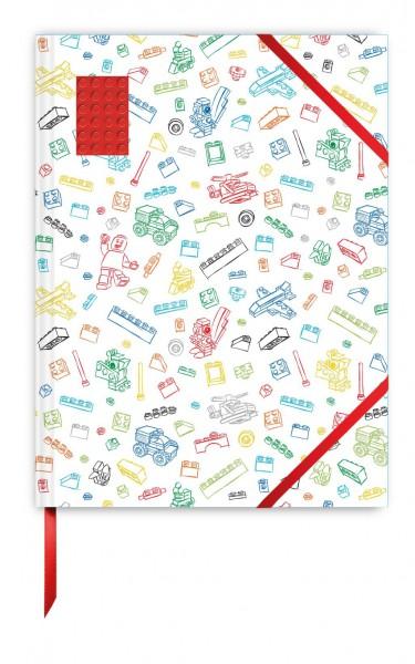 LEGO® Skizzenbuch rot (96 Seiten)-A4