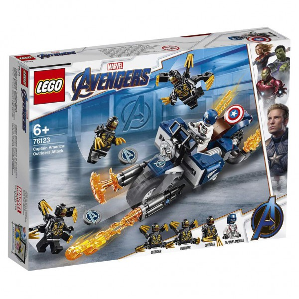 LEGO Marvel Super Heroes - 76123 - Captain America: Outrider-Attacke