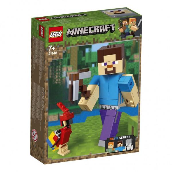 Minecraft™-BigFig Steve mit Papagei