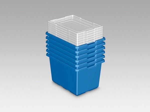 LEGO® Große Aufbewahrungsboxen (blau, 6er Set)