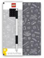 LEGO® Notizbuch Grau mit einem Gel-Pen grau