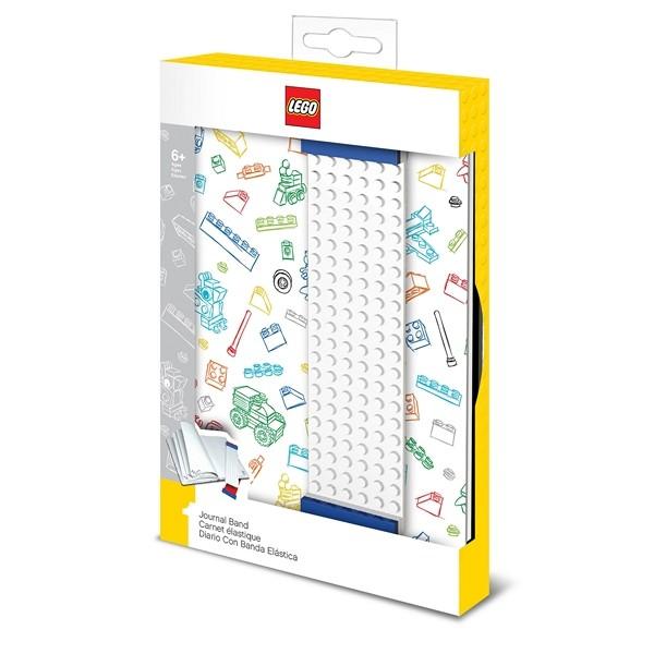LEGO® Notizbuch m.Lesezeichen (weiß)