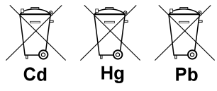 Batterieentsorgung Cd Hg Pb