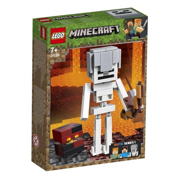 Minecraft™-BigFig Skelett mit Magmawürfel