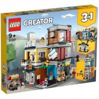 LEGO® Stadthaus mit Zoohandlung & Café 31097
