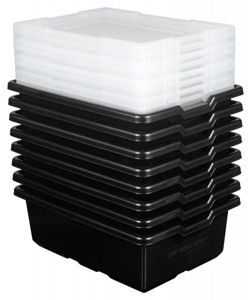 LEGO® Aufbewahrungsboxen Medium (schwarz, 8er Set)